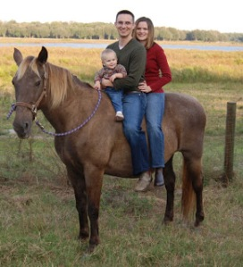 kaley john and grant on horse